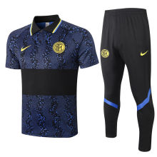 2020/21 In Milan Blue Black Polo Tracksuit