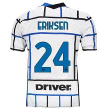 ERIKSEN #24 In Milan 1:1 Away Fans Soccer Jersey 2020/21 (Have DRIVER)