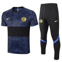 2020/21 In Milan Blue Black Training Tracksuit