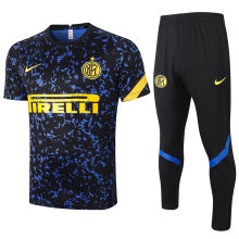 2020/21 In Milan Blue And Black Training Tracksuit