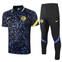 2020/21 In Milan Blue And Black Polo Tracksuit