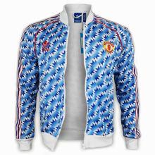 1990/92 M Utd Blue And White Retro Jacket