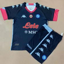 2020/21 Napoli Away Black Kids Soccer Jersey