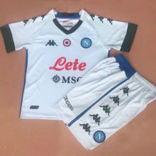 2020/21 Napoli Away White Kids Soccer Jersey