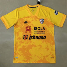 2020/21 Cagliari Away Yellow Fans Soccer Jersey