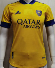 2020/21 Boca Away Yellow Player Soccer Jerseys