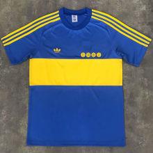 1981 Boca Home Retro Soccer Jersey