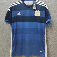 2014 Argentina Away Retro Soccer Jersey