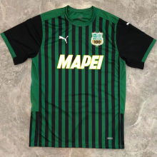 2020/21 Sassuolo Home Green And Black Fans Soccer Jersey