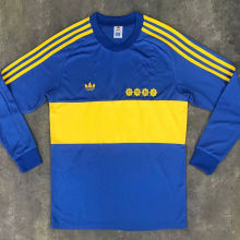 1981 Boca Home Retro Long Sleeve Soccer Jersey