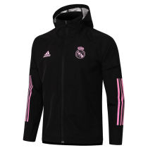 2020/21 RM Black Windbreaker Pink Logo 粉红色标志