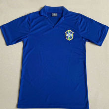 1957 Brazil Away Blue Retro Soccer Jersey