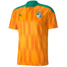2020/21 Ivory Coast Home Orange Fans Soccer Jersey