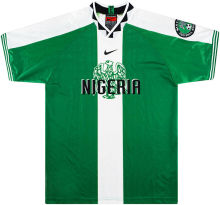 1996 Nigeria Home Green Retro Soccer Jersey