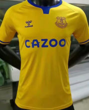2020/21 Everton Away Yellow Player Version Soccer Jersey