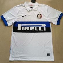 2009/2010 In Milan Away White Retro Soccer Jersey