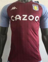 2020/21 Aston Villa Home Red Player Version Soccer Jersey
