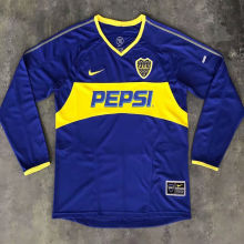 2003/2004 Boca Home Retro Long Sleeve Soccer Jersey