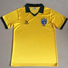 1985 Brazil Home Yellow Retro Soccer Jersey