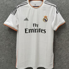2013-2014 RM White Home Retro Soccer Jersey