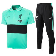 2020/21 LIV Green And Black Polo Tracksuit
