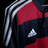2014 Germany Away Balck And Red Retro Soccer Jersey