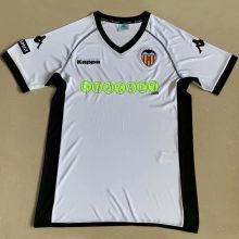 2011 Valencia Home White Retro Soccer Jersey