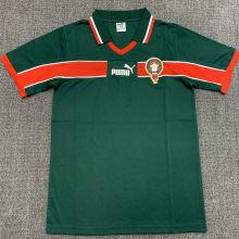 1998 Morocco Green Retro Soccer Jersey
