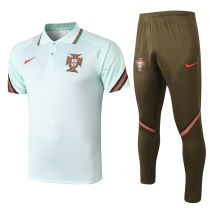 2020/21 Portugal Light Green Polo Tracksuit