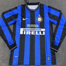 2009/10 In Milan Home Long Sleeve Retro Soccer Jersey