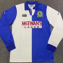 1994-95 Blackburn Rovers Home Retro Long Sleeve Soccer Jersey