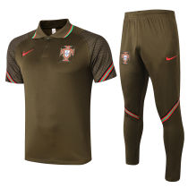 2020/21 Portugal Dark Green Polo Tracksuit