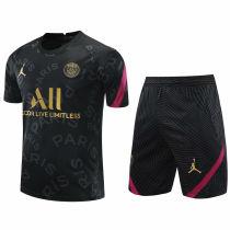 2020/21 PSG Black Short Training Jersey(A Set)