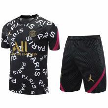 2020/21 PSG Black White Short Training Jersey(A Set)