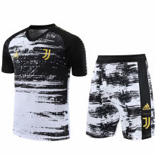 2020/21 JUV Black And White Short Training Jersey(A Set)
