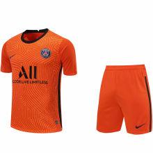 2020/21 PSG Orange GK Fans Soccer Jersey(A Set)