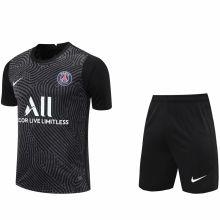 2020/21 PSG Black GK Fans Soccer Jersey(A Set)