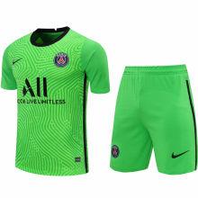 2020/21 PSG Green GK Fans Soccer Jersey(A Set)