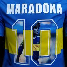 Maradona #10 Boca Home Retro Soccer Jersey 1981