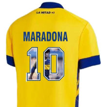 Maradona #10 Boca Third Yellow Fans Soccer Jerseys 2020/21