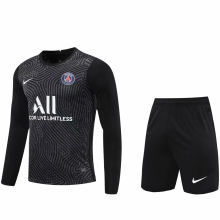 2020/21 PSG Black GK Long Sleeve Soccer Jersey(A Set)