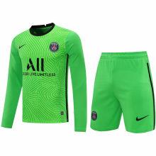 2020/21 PSG Green GK Long Sleeve Soccer Jersey(A Set)