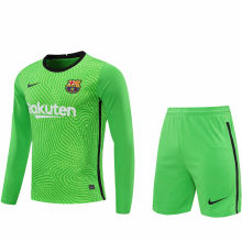2020/21 BA Green GK Long Sleeve Soccer Jersey(A Set)
