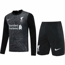 2020/21 LFC Black GK Long Sleeve Soccer Jersey(A Set) (Pants Have Number)裤有号码