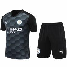 2020/21 Man City Black GK Soccer Jersey(A Set)