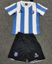 1986 Argentina Home Retro Kids Soccer Jersey