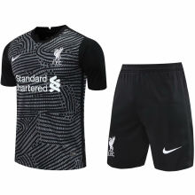 2020/21 LFC Black GK Soccer Jersey(A Set)(Pants Have Number)裤有号码