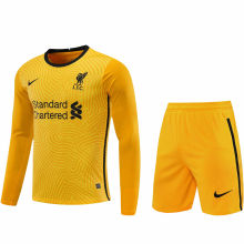 2020/21 LFC Yellow GK Long Sleeve Soccer Jersey(A Set) (Pants Have Number)裤有号码