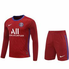 2020/21 PSG Red GK Long Sleeve Soccer Jersey(A Set)