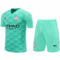2020/21 Man City Green GK Soccer Jersey(A Set)